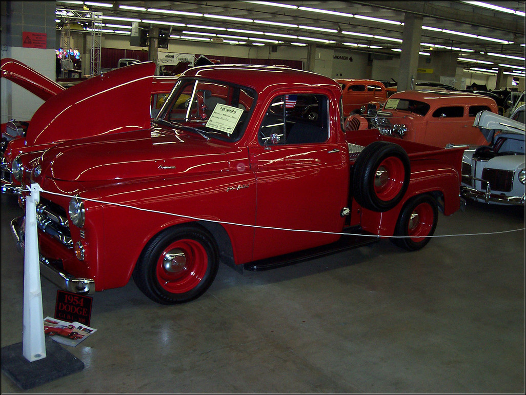 1954 Pickup Red Dodge Truck 100 0497